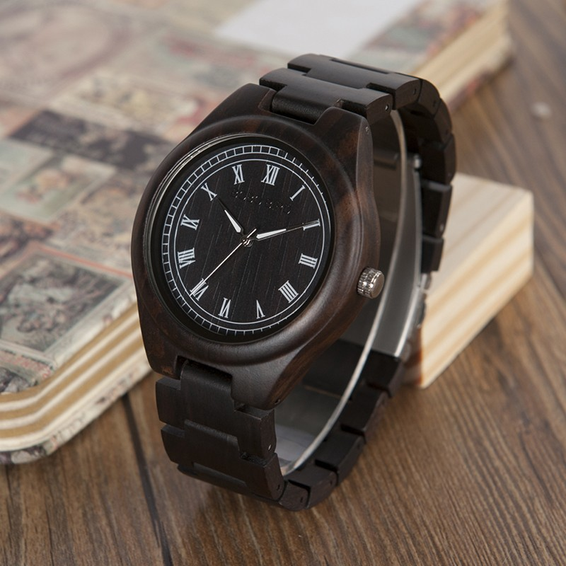 BOBO BIRD drevené náramkové hodinky BBD T02, drevené hodinky