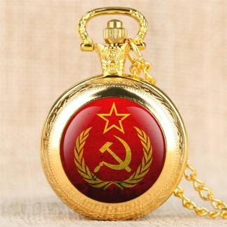Vreckové hodinky Kosák a Kladivo