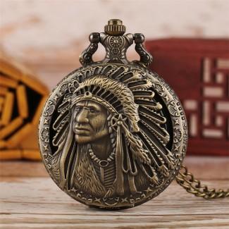 Vreckové hodinky Indián