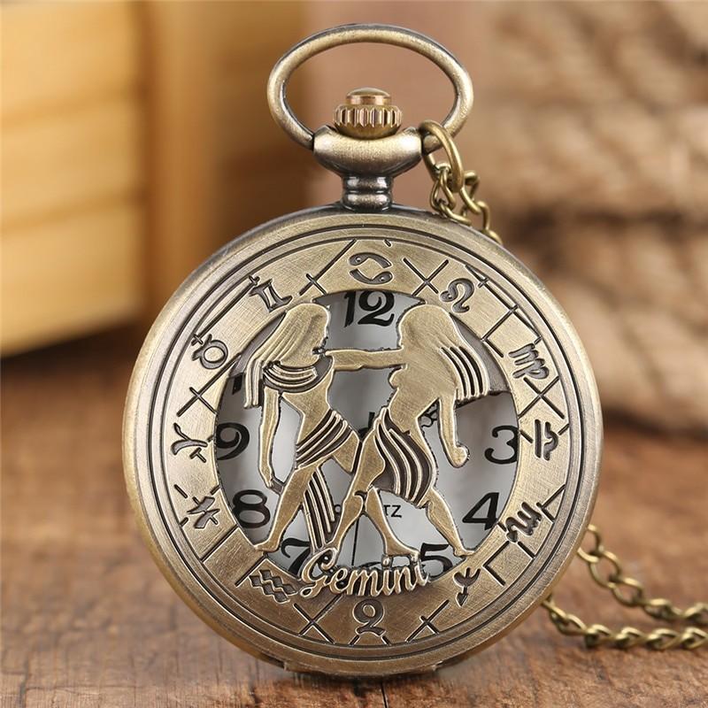 Vreckové hodinky znamenie Blíženci