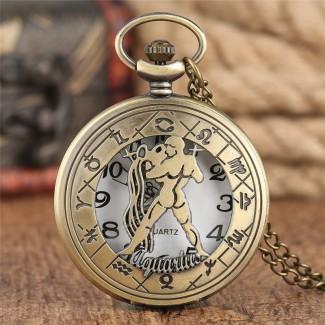Vreckové hodinky znamenie Vodnár