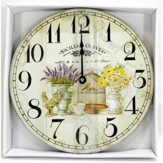 Nástenné hodiny Sicilian Olives 30cm