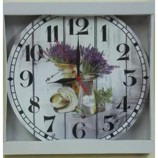 Nástenné hodiny Levanduľa klobúk 28,5cm