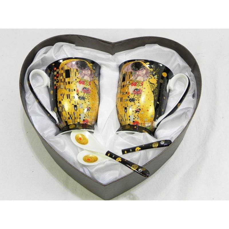 Porcelánová súprava srdce Gustav Klimt