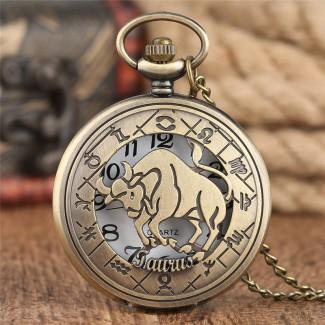 Vreckové hodinky znamenie Býk