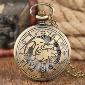 Vreckové hodinky znamenie Lev