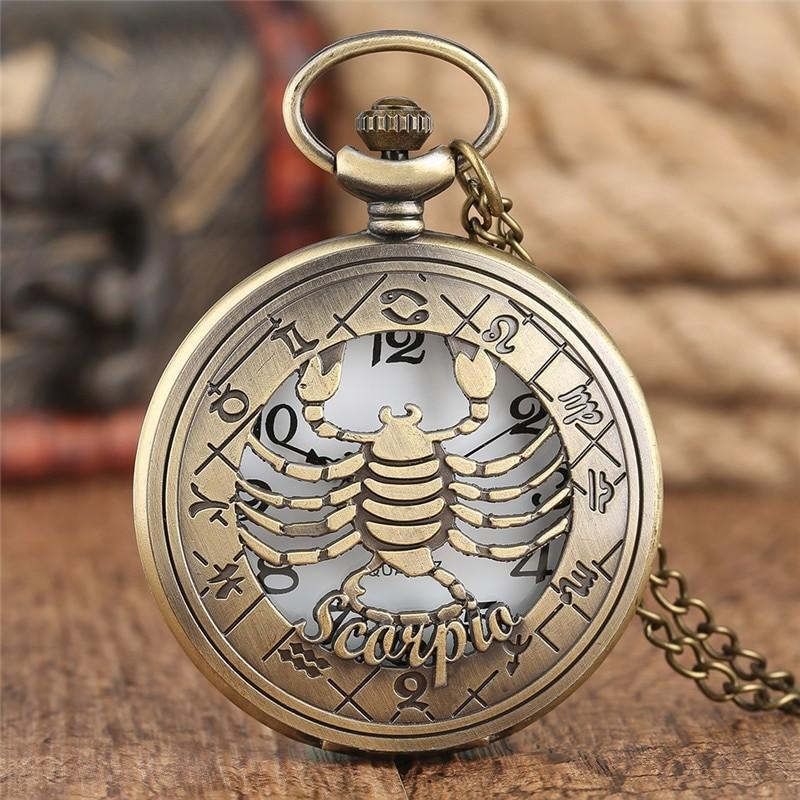 Vreckové hodinky znamenie Škorpión