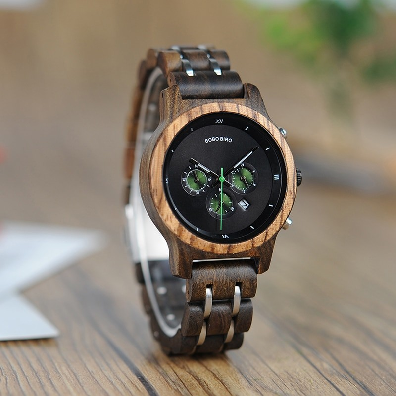 BOBO BIRD drevené náramkové hodinky BBDW T08, drevené hodinky