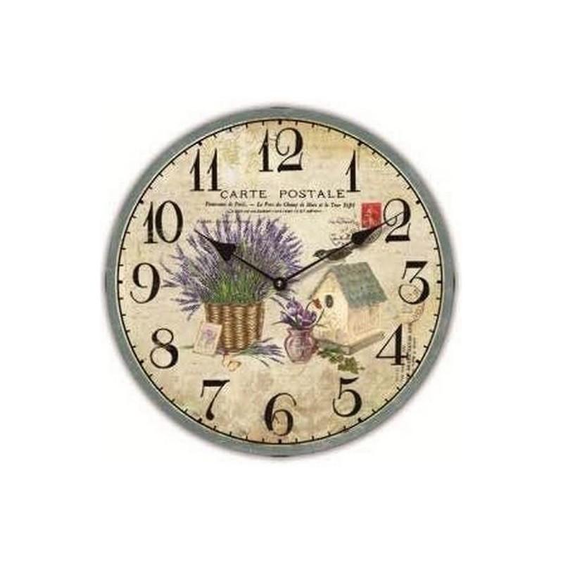 Nástenné hodiny Carte Postale 34cm