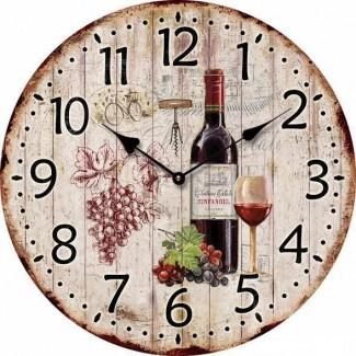 Nástenné hodiny Víno 34cm