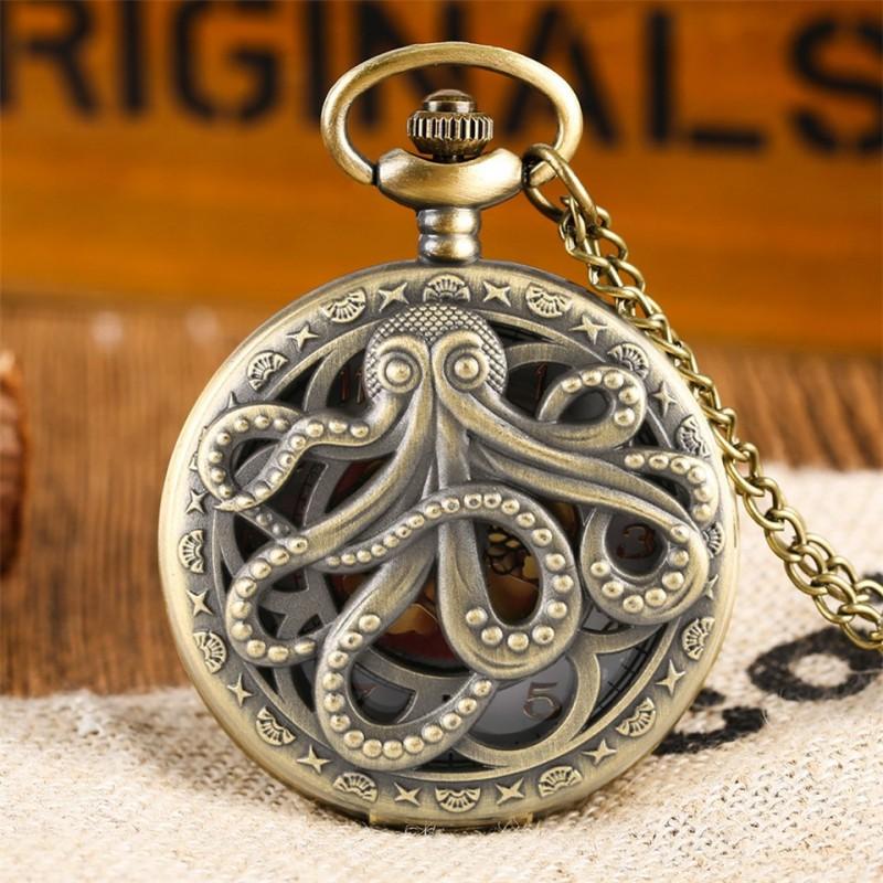 Vreckové hodinky Chobotnica