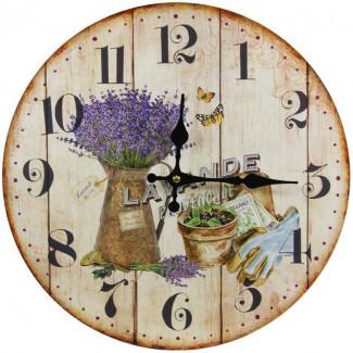 Nástenné hodiny levanduľa provence 34cm
