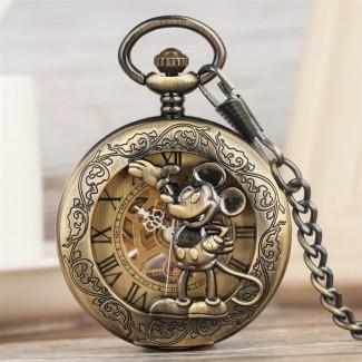 Mechanické vreckové hodinky Mickey Mouse