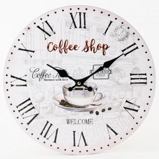 Nástenné hodiny Coffee shop 34cm