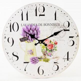 Nástenné hodiny Lavandes de Bonnieux 34cm