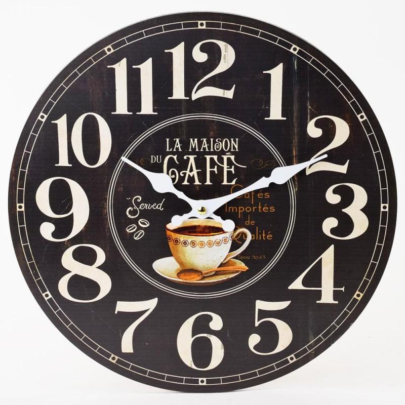 Nástenné hodiny La Maison Cafe 34cm