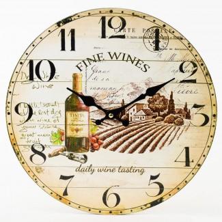Nástenné hodiny Fine Wines 34cm