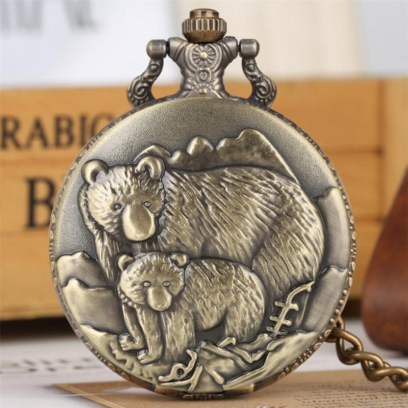 Vreckové hodinky medvede