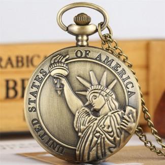Vreckové hodinky socha slobody
