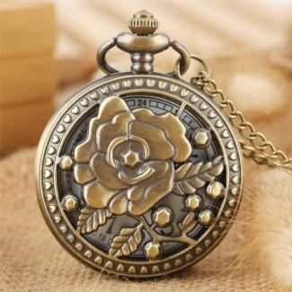 Vreckové hodinky Očarujúca ruža
