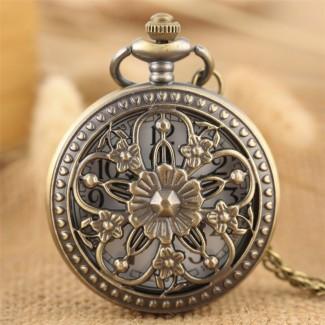 Vreckové hodinky Elegantné kvety
