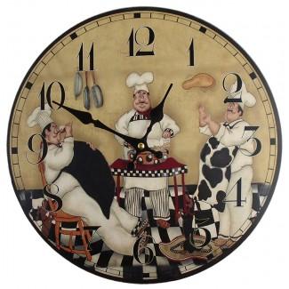 Nástenné hodiny kuchári 34cm