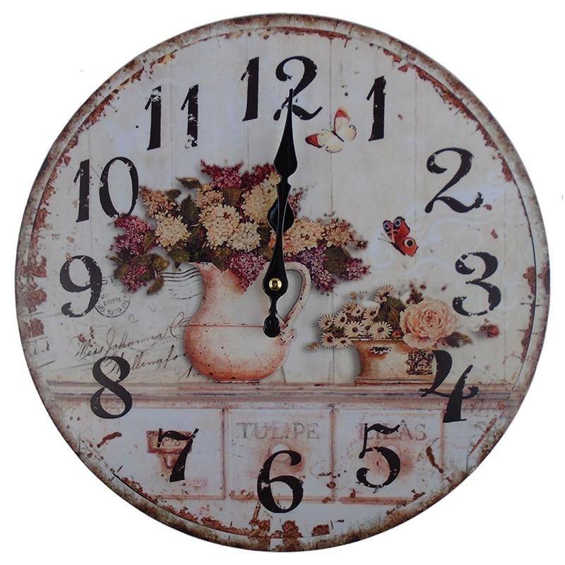 Nástenné hodiny orgován v džbáne 34cm