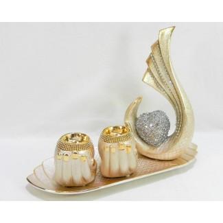 Dekoračný keramický svietnik ruka