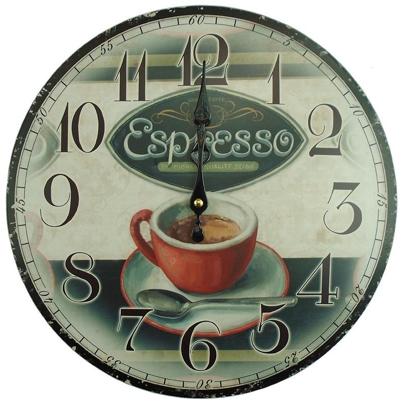 Nástenné hodiny espresso 34cm