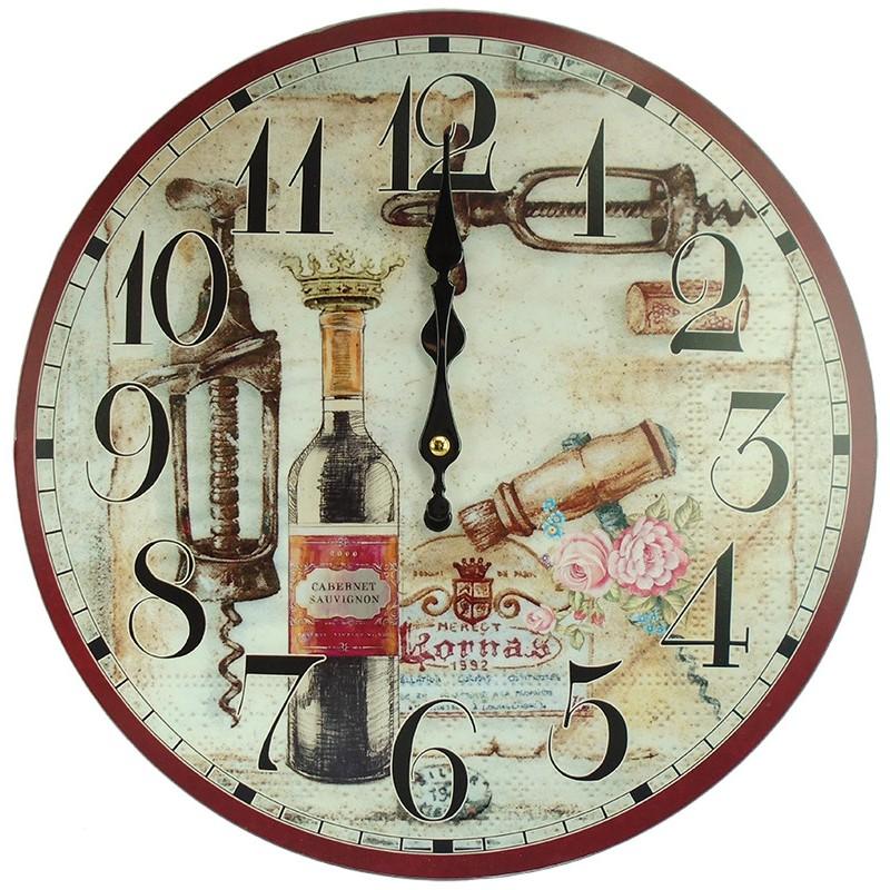 Nástenné hodiny Cabernet Sauvignon 34cm
