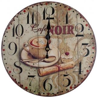 Nástenné hodiny Cafe Noir 34cm