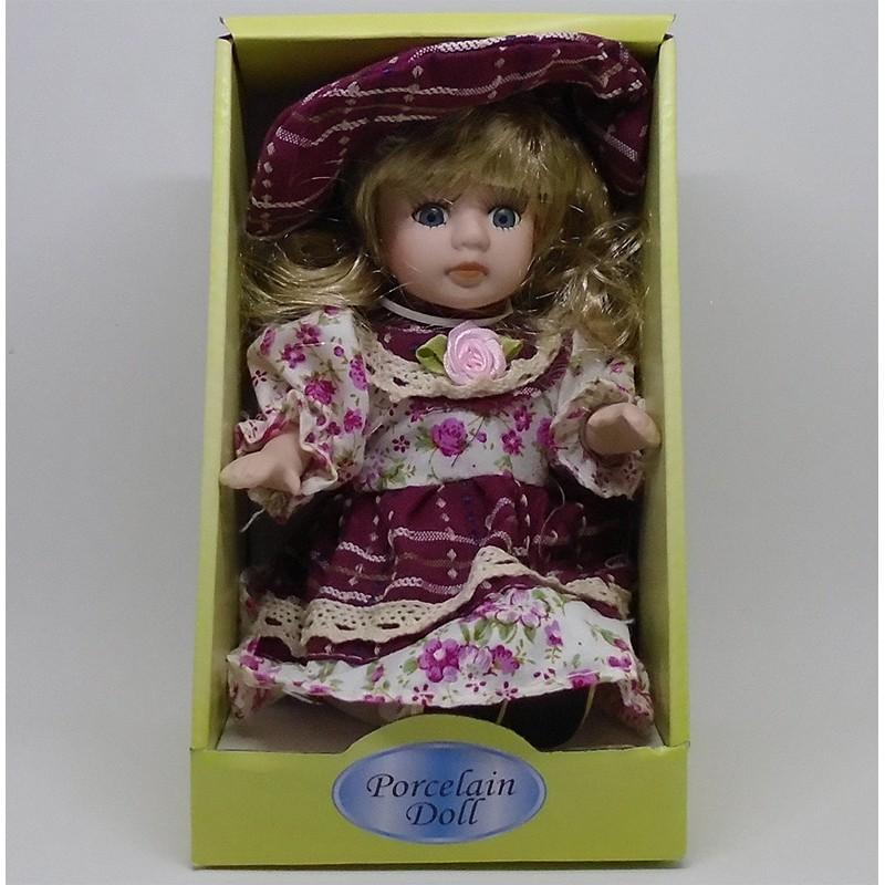 Porcelánová bábika sediaca Ráchel 20cm
