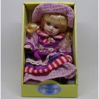Porcelánová bábika sediaca Ľudmila 20cm