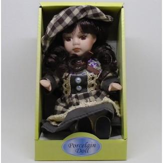 Porcelánová bábika sediaca Inga 20cm