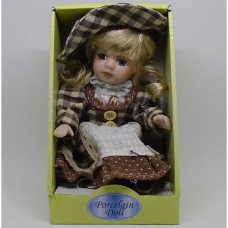 Porcelánová bábika sediaca Natália 20cm