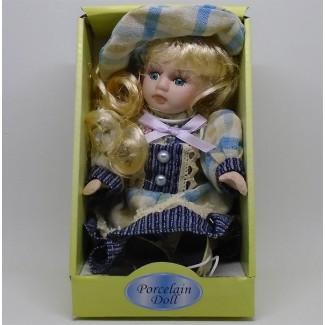 Porcelánová bábika sediaca Lenka 20cm