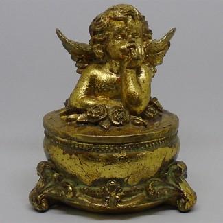 Anjel dóza antik zlatý