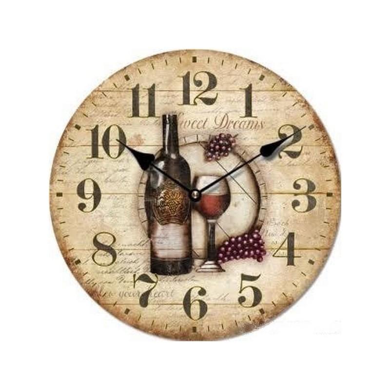 Nástenné hodiny Víno Sweet Dreams 34cm