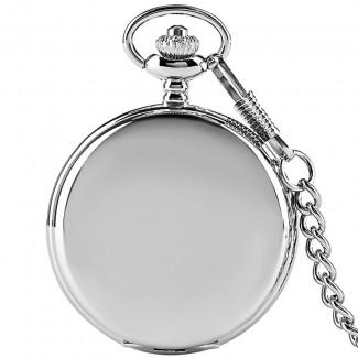 Vreckové hodinky strieborné rímske číslice