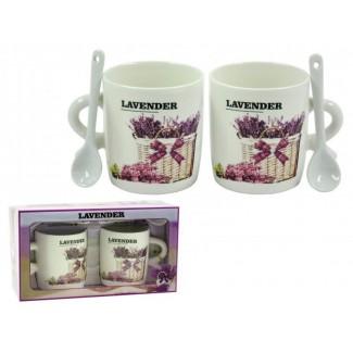 Keramický hrnček lavender vzor A