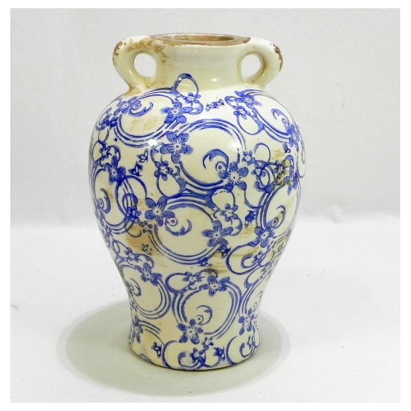Keramická váza vidiecky štýl