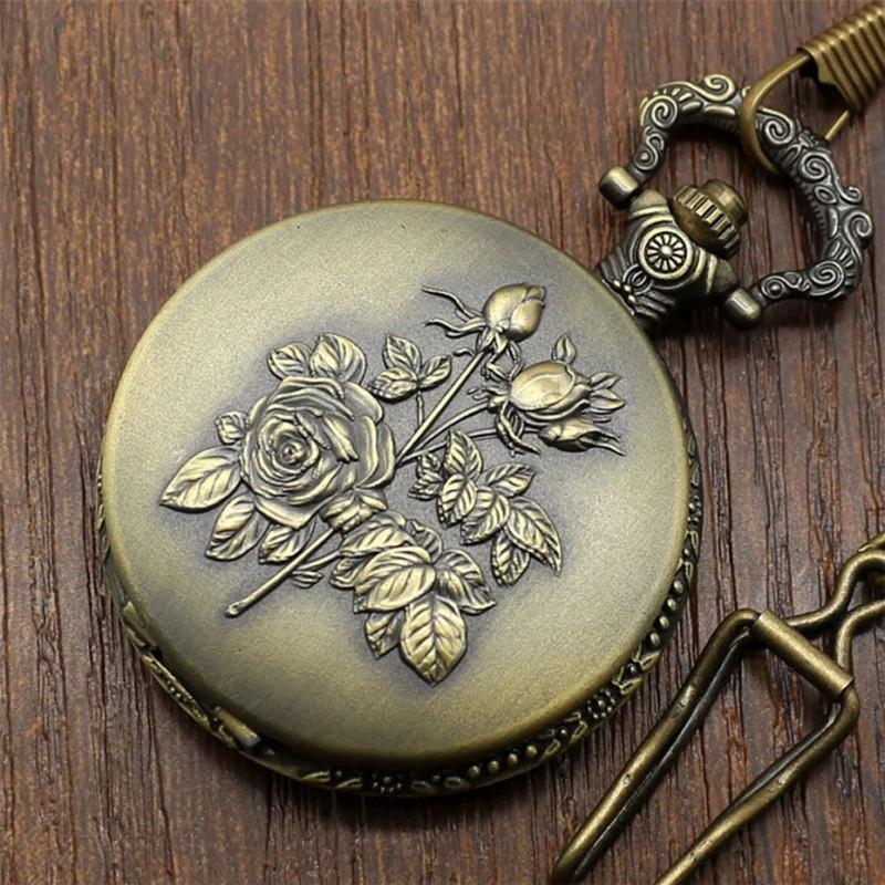 Vreckové hodinky Ružové kvety