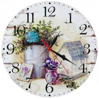 Nástenné hodiny provencal herbs 28,5cm