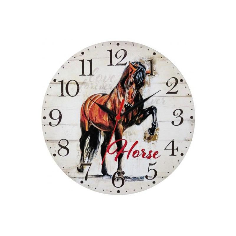 Nástenné hodiny Horse 28,5cm