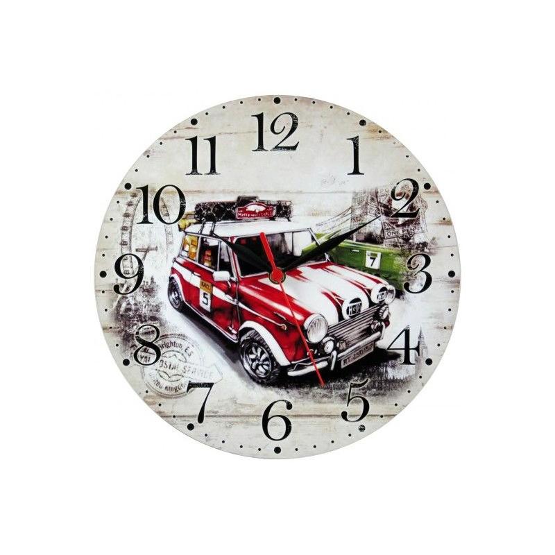 Nástenné hodiny športové auto 28,5cm