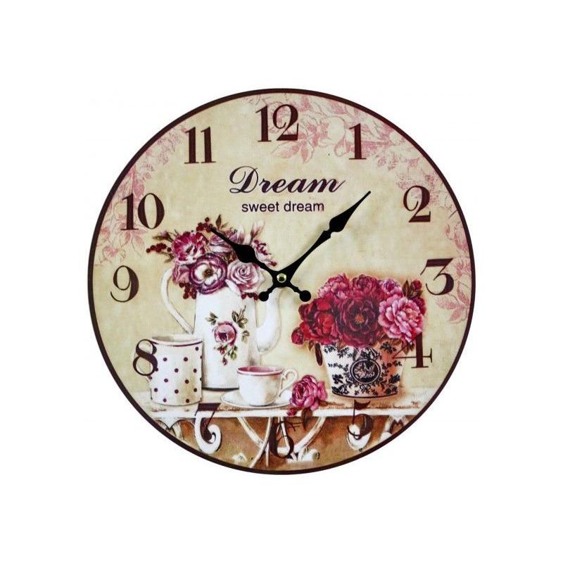 Nástenné hodiny ruže Dream sweet  dream 30cm