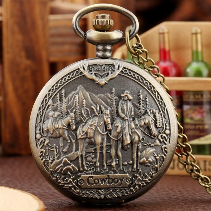 Vreckové hodinky Cowboy