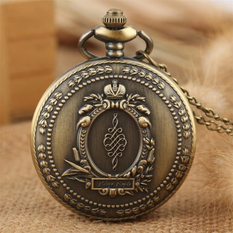 Vreckové hodinky starožitný dizajn veľkého zrkadla
