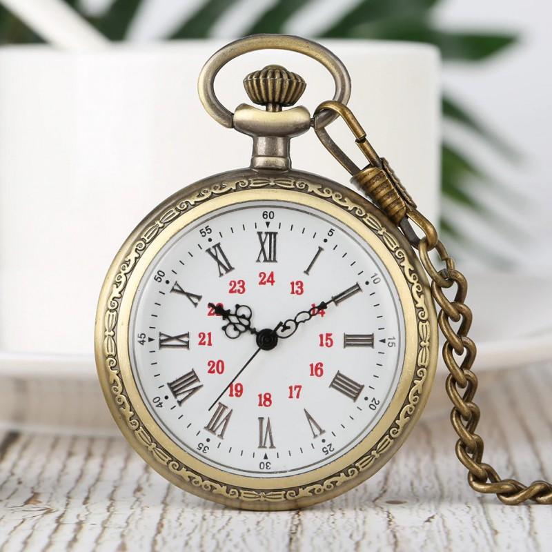 Vreckové hodinky neotvárajúce biely ciferník