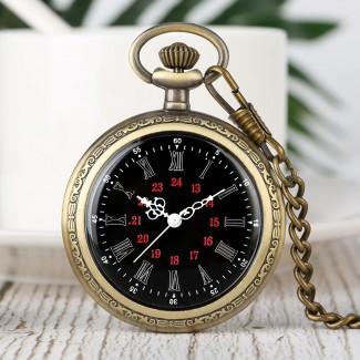 Vreckové hodinky neotvárajúce čierny ciferník